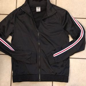 Athletic track zip up jacket NWT small